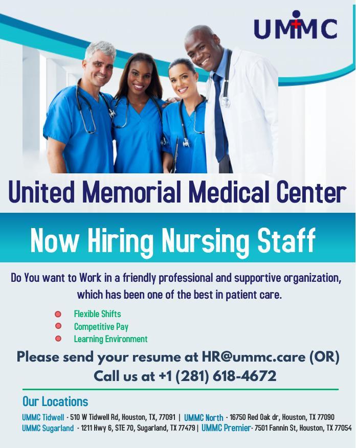 ummc nursing staff jobs